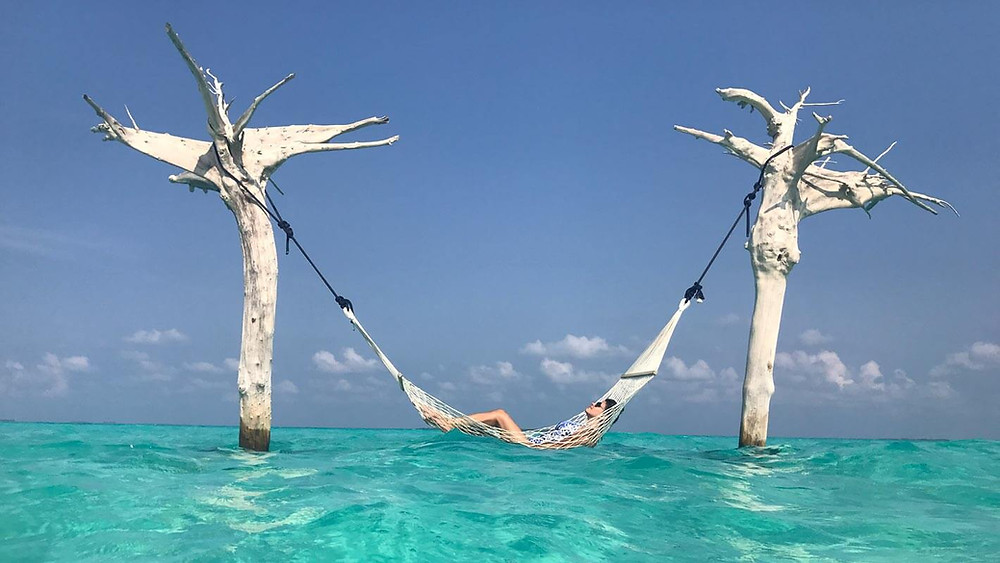 Soneva Jani: one of the heavenly hotel hammocks that make for a swinging check-in
