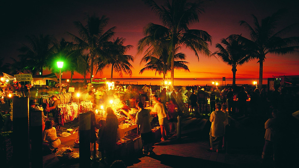 Darwin's longest-running markets at Mindil Beach are great for a walking dinner degustation