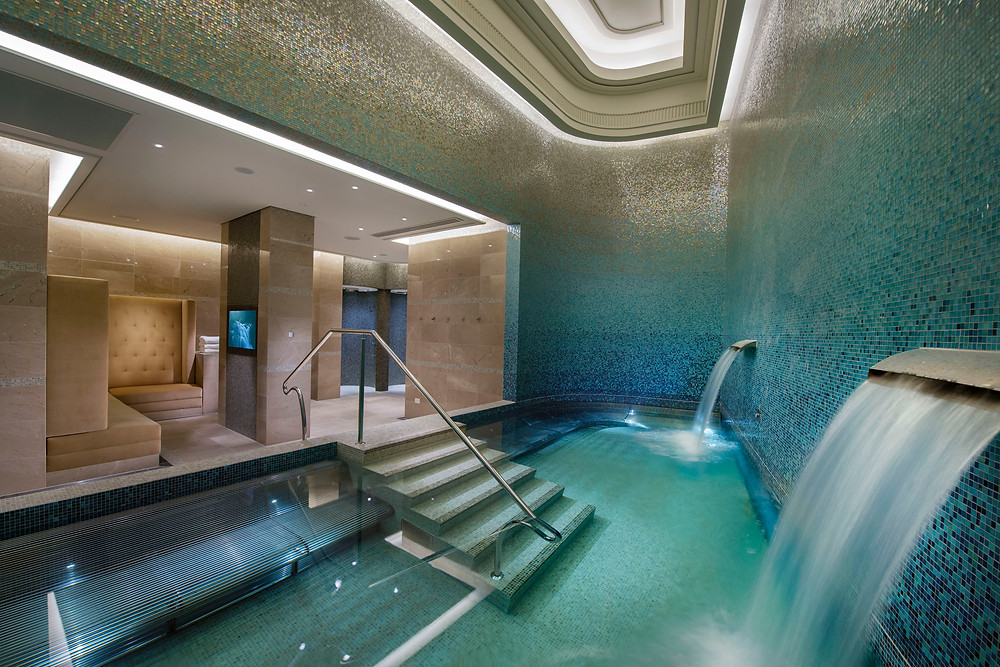 The men's hydrotherapy vitality pool in the Crown Spa, Melbourne