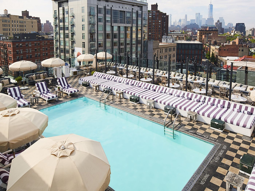 Dan Macpherson's hotel of choice?  The amazing rooftop pool at New York's Soho House
