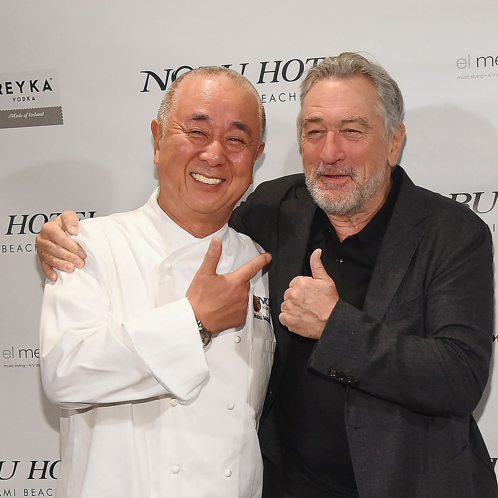 "Actor Robert de Niro with chef, Nobuyuki ""Nobu"" Matsuhisa"