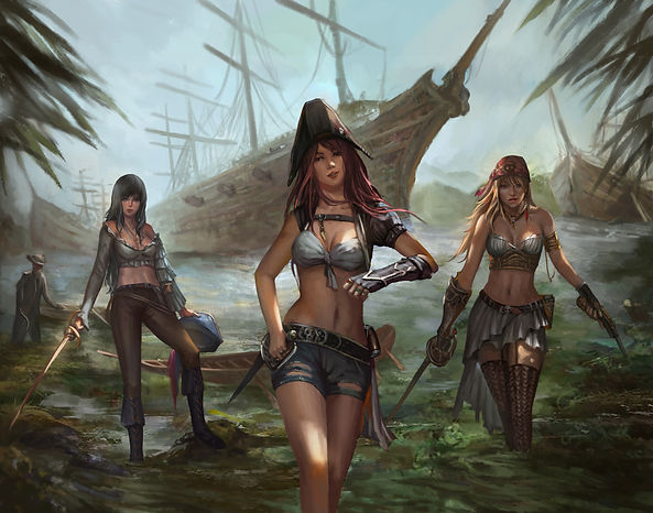 pirate women, rum, alcohol,