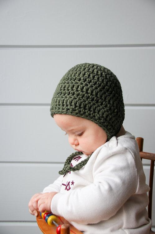 Muts 'bonnet' donkergroen