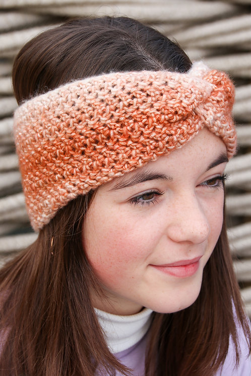 Haarband 'twist' roest-oranje