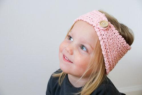 Haarband roze met knoop
