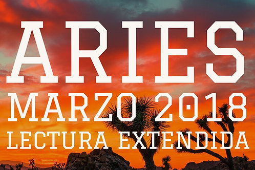 Aries Lectura Extendida Marzo 2018