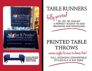 See It Printed Table Runners and Throws.