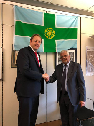 HE Ambassador Yassin Saeed Noman meets with Labour MP Mr. Toby Perkins