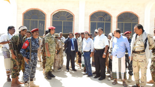 Transports Minister inspects rehabilitation of Ataq Airport