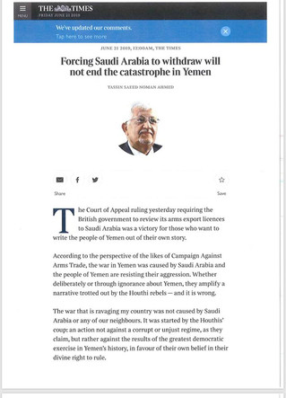 Forcing Saudi Arabia to withdraw will not end the catastrophe in Yemen Yemeni Ambassador to the UK w