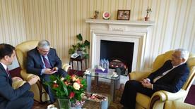 زيارة البعثة العراقية الى مقر السفارة اليمنية في لندن
