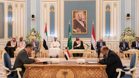 Signing the Riyadh Agreement between the Yemeni government and the Transitional Council