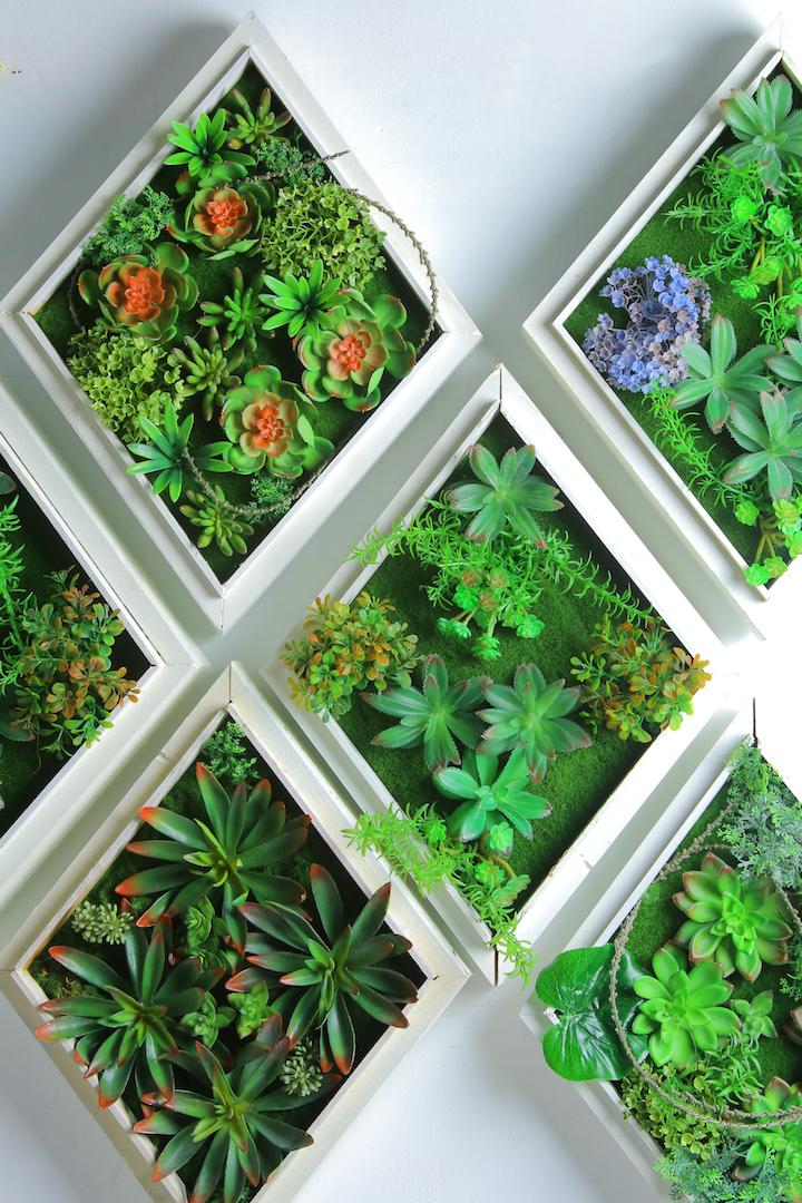 Iora White Rustic Frame Vertical Garden Collection