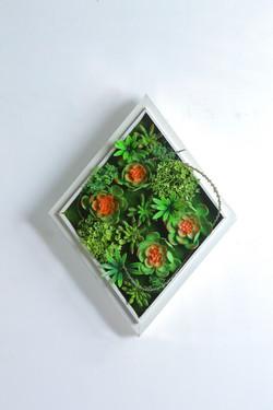 Iora A White Rustic Vertical Garden Tile