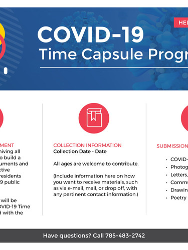 Questionaires for the time capsule are available to pick up at the circulation desk.