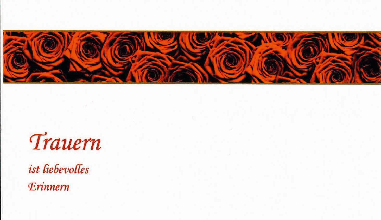 Trauerkarte Rosen