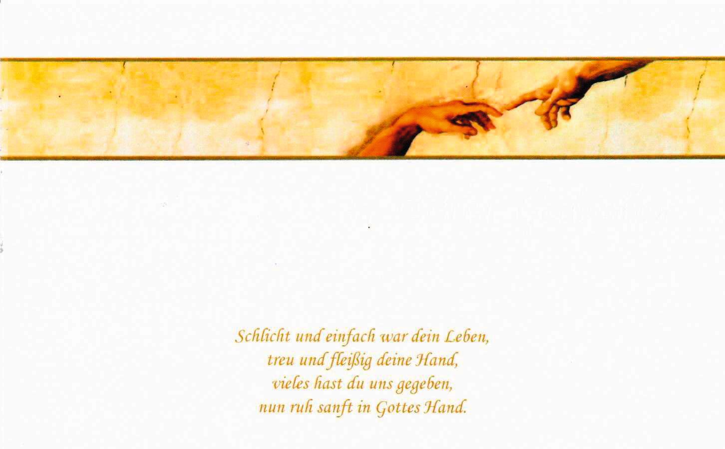 Trauerkarte Michelangelo
