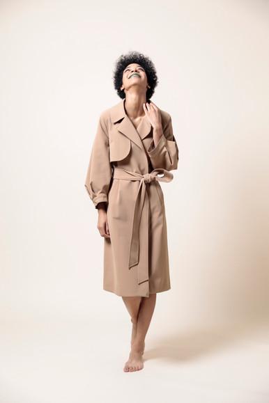 nylon trench coat  MG CO-1780-S 45,000 yen