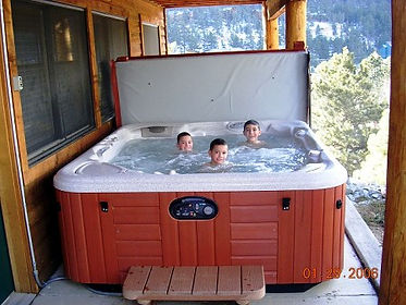 Hot Tub of Rocky Mountain Views