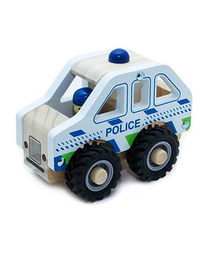 Wooden Emergency Vehicles Police Car, Ambulance, Fire Engine