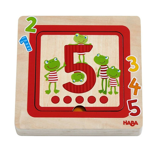 Wooden Puzzle Counting Friends