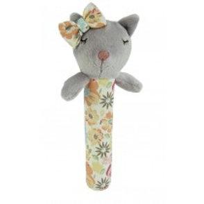 Mia the Cat Stick Rattle