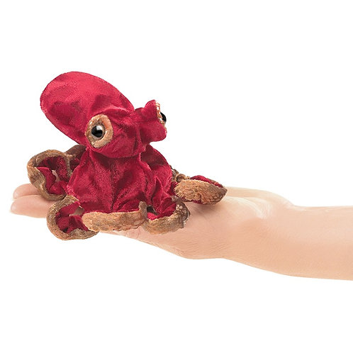 Red Octopus Finger Puppet