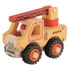 Wooden Work Vehicles Crane, Tractor, Mixer