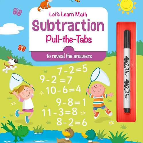 Lets Learn Math Subtraction Pull-the-Tabs