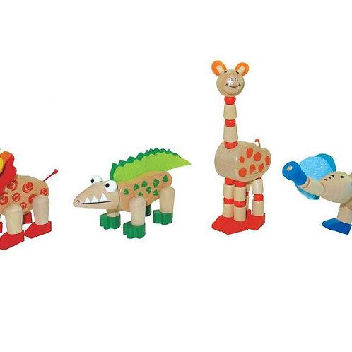 Wooden Flexi Jungle Animals