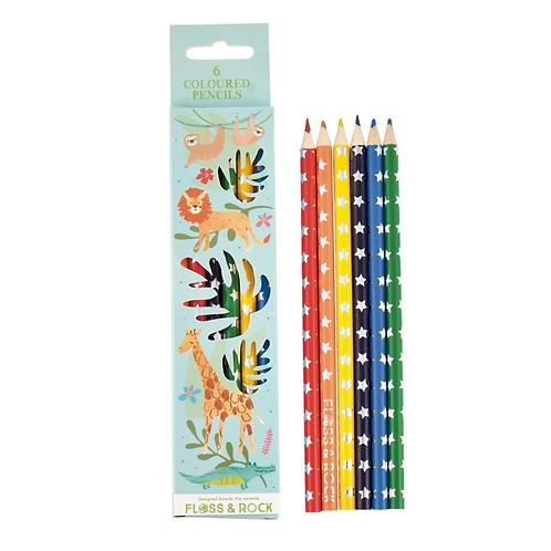 6pc Jungle Colored Pencils