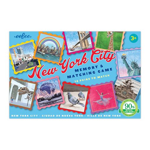 New York City Memory & Matching Game