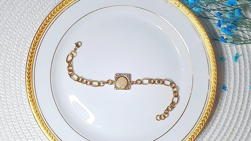 Bracelet upcyclé Rivoli - Chaine maille ovale