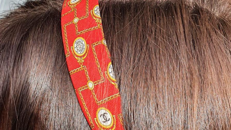 Serre-tête Chanel - Faits main - 100% soie