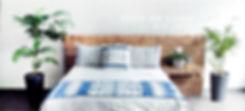 cama de color indigo