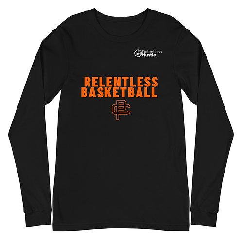 Relentless Basketball Unisex Long Sleeve Black