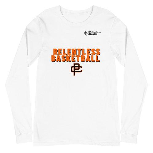 Relentless Basketball Unisex Long Sleeve White