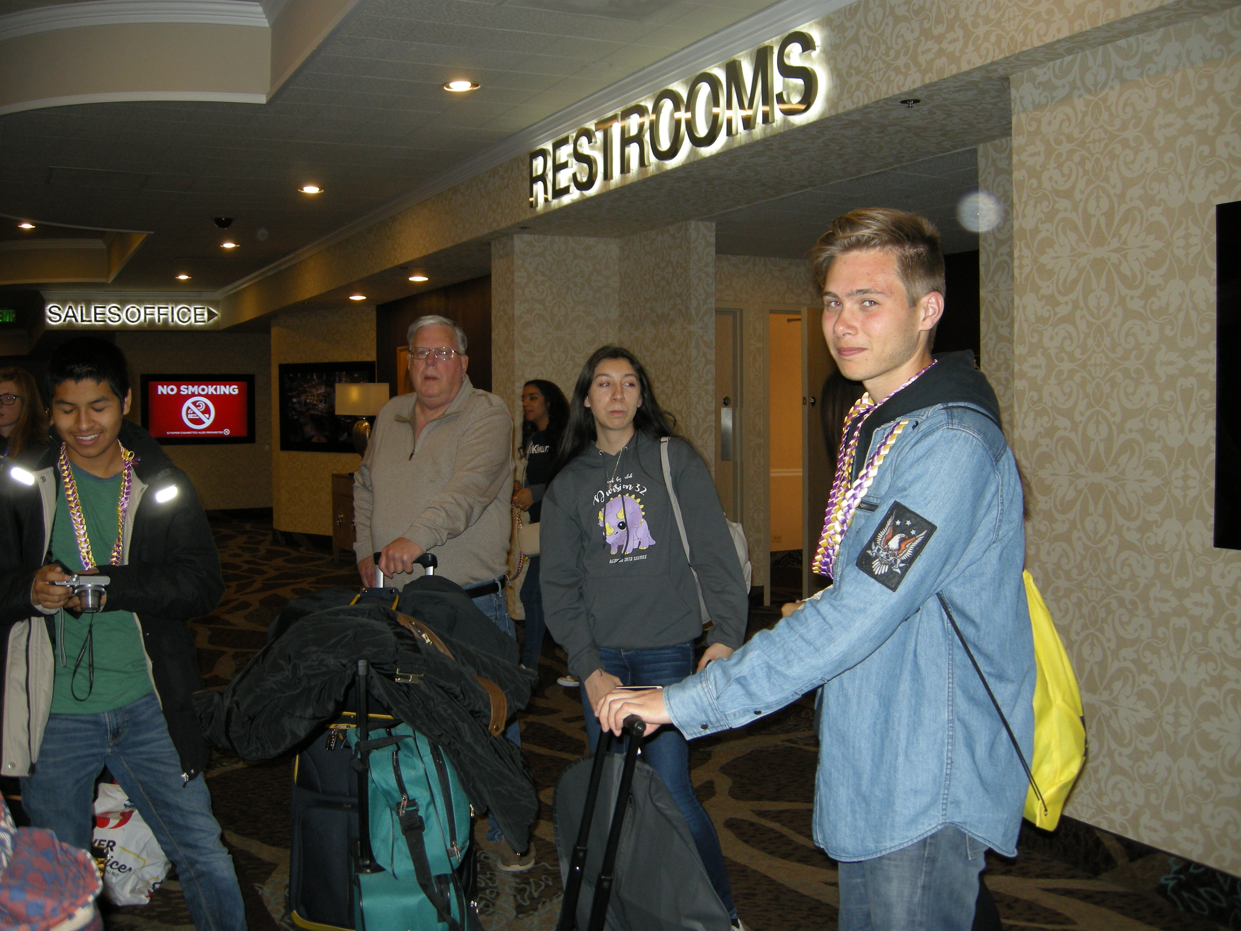Arriving at hotel