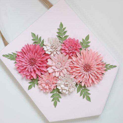 Paper Flower Banner | Floral Decor | Wall Decor