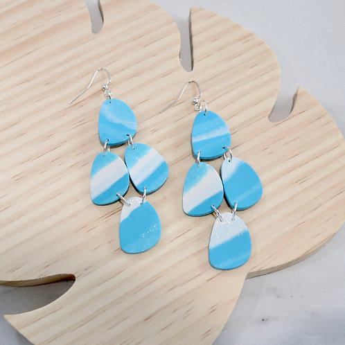 Blue Sky Collection   Polymer Clay Earrings
