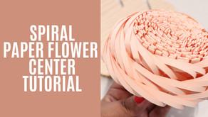 SPIRAL PAPER FLOWER CENTER