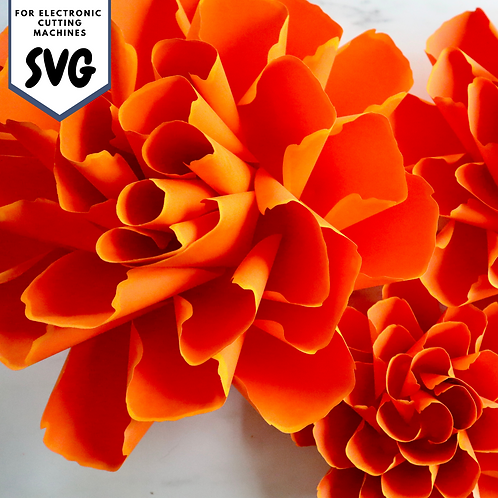SVG/PDF Paper Marigold Collection