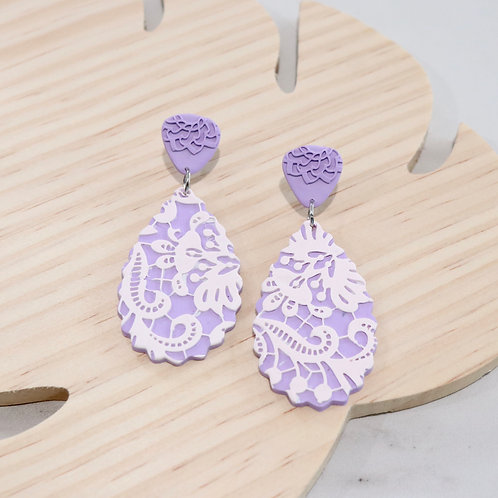 Purple Lace Collection | Polymer Clay Earrings