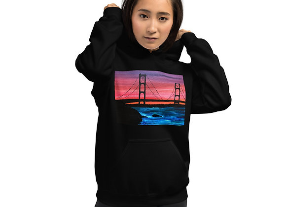 Mackinac Bridge Color Print Unisex Hoodie