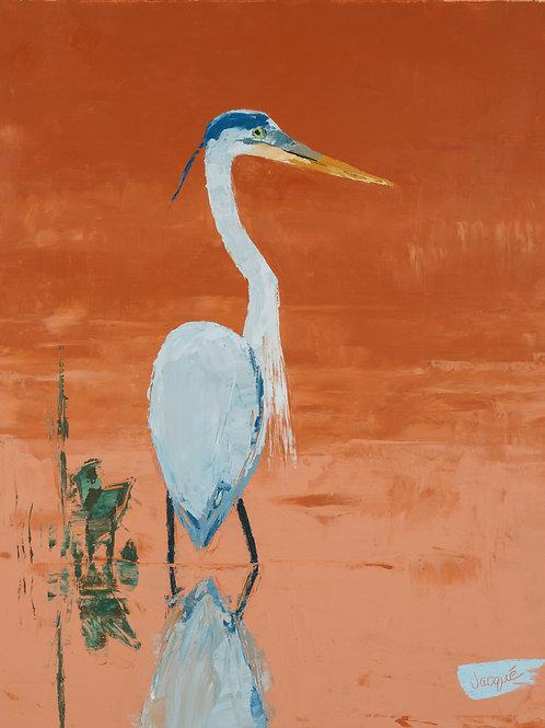 Great Blue Heron Archival Print