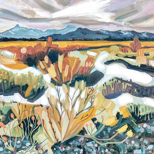 Dry Winter Original Oil Painting