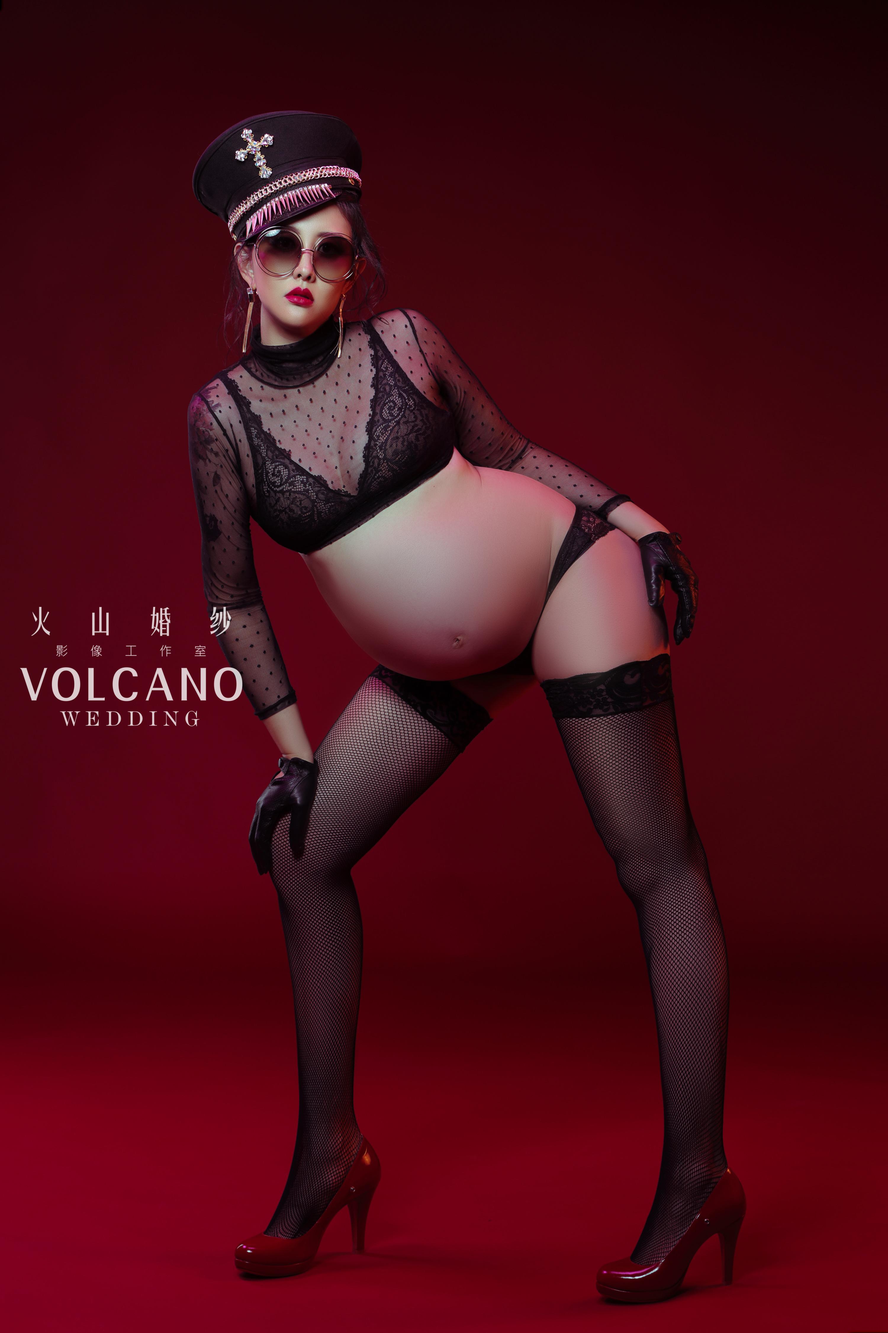 volcano wedding_孕婦寫真