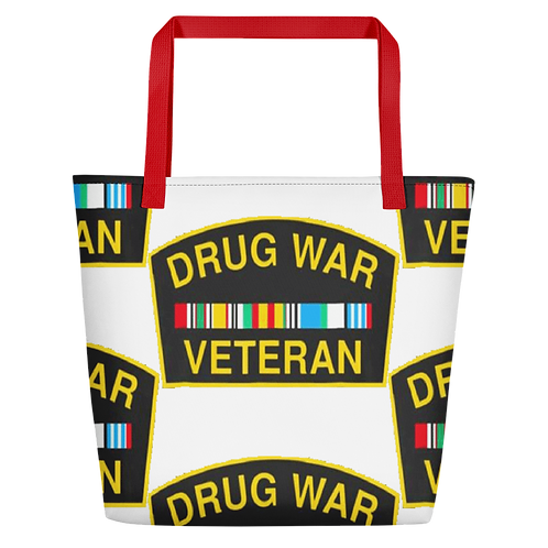 Drug War Veteran Beach Bag