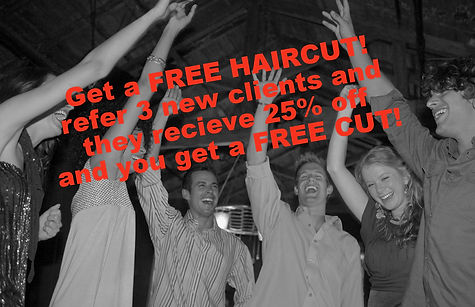 free haircuts with referrals