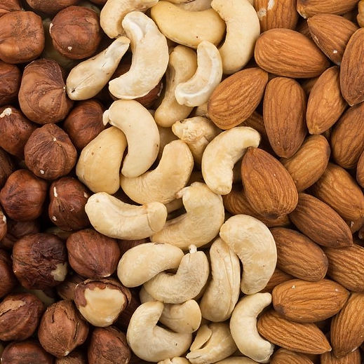 mixe-of-various-nuts-background-above-cl